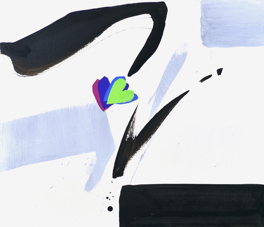 인연 / Mixed media on canvas / 53.0x45.5cm